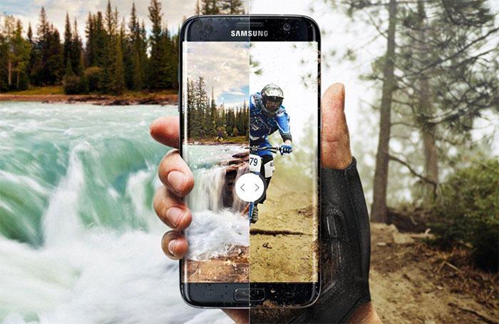 Samsung Galaxy S7 v prírode