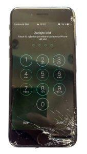 iPhone 7 rozbité sklo
